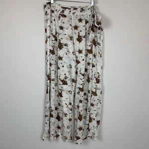 Vince Camuto Swim wide leg cover up pants large
